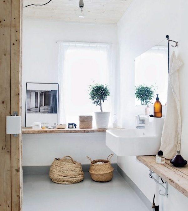 blanco y madera…